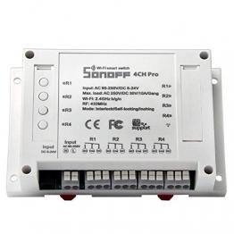 Sonoff 4CH Pro – 4 Kanal WLAN Schaltrelais für Smart Home, Alexa & ioBroker ✪