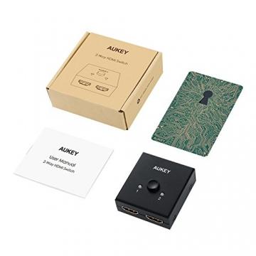 AUKEY HDMI Switch Bidirektionaler 2 in 1 Out Unterstützt 3D und 4K Oder HDMI Umschalter ✪