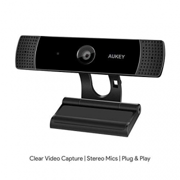 AUKEY Webcam 1080P Full HD mit Stereo Mikrofon ✪