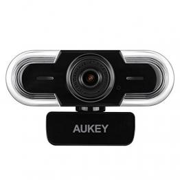 AUKEY Webcam 2K HD mit Mikrofon, Manuellem Fokus - perfekt geeignet zum Streamen auf Twitch ✪