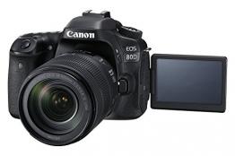 Canon EOS 80D SLR-Digitalkamera (24,2 Megapixel, 7,7 cm (3,0 Zoll) Display, Full HD, NFC und WLAN) ✪