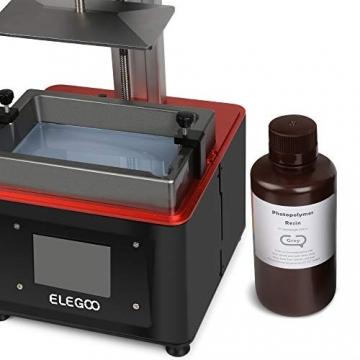 ELEGOO 3D Drucker Rapid Resin - UV Standard Photopolymer Harz für LCD 3D Printer 500g ✪