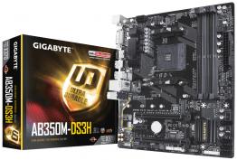 Gigabyte GA-AB350M-DS3H Mainboard - AMD AM4 B350 (MicroATX) RAID ✪