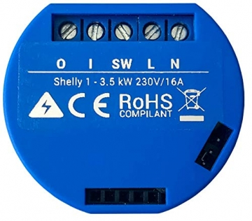 Shelly 1 One Schalter Relais Wireless WiFi Hausautomation ✪