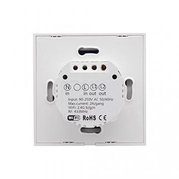 Sonoff Touch – 2CH WLAN Schaltrelais für Smart Home, Alexa & ioBroker ✪