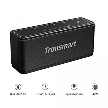 Tronsmart Mega Bluetooth Lautsprecher mit 40W Stereo Sound und Dual-Treiber Boom Bass ✪
