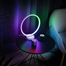 AUKEY Tischlampe, dimmbares Auralicht, Fernbedienung, 6 Lichtmodi, 4 Lichtgeschwindigkeiten und Memory-Funktion ✪