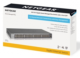 NETGEAR 48-Port Gigabit Smart Managed Plus Switch mit 2 SFP Ports (GS750E) ✪
