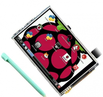 Raspberry Pi 3B + Touch Display Plus Touch Stift (3,5 Zoll) ✪
