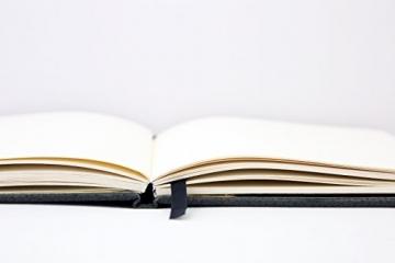 Hardcover Notizbuch - DIN-A4 PU-Leder mit Gummiband (Liniert, Grauer Elefant) ✪