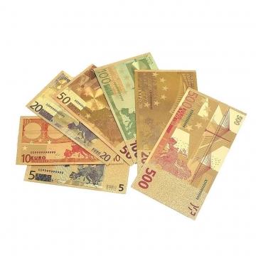 Film Euro Geldscheine - 24 Karat Gold (vergoldet) ✪