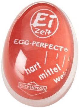 Küchenprofi Eier-Uhr Ei-Zeit in rot, Kunststoff ✪