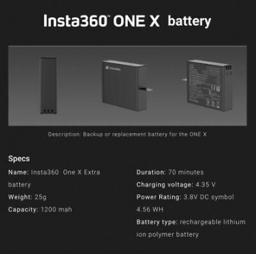 Original Akku für Insta360 One X Battery ✪