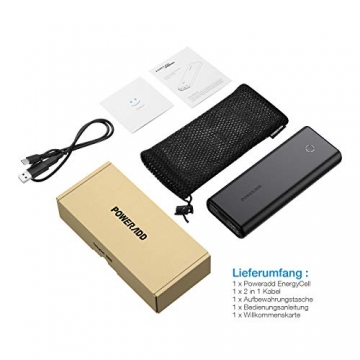 POWERADD EnergyCell 20000mAh Powerbank mit USB C Anschluss ✪