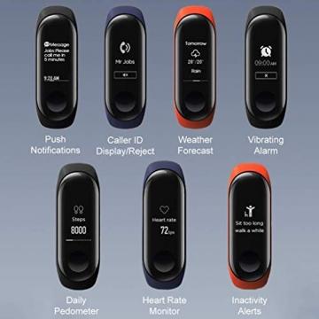Xiaomi Mi Band 3 - Fitnessarmband (Schlaftracker, Aktivitätstracker, Pulsmesser) ✪