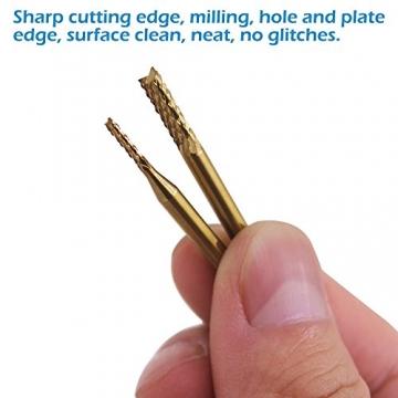 CNC Titan Fräser Set - 0,8-3,17 mm Gravur-Bits CNC Fräser Set ✪