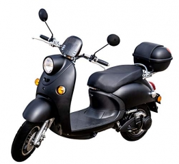"Elektroroller""ONE"", 2000 Watt, 60 km, Lithium-Akku E-Scooter E Roller mit Straßenzulassung Elektro, inkl. Topcase ✪"