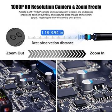 Endoskop für Android & iOS (Wasserdicht & mit WLAN) - 5,5mm Durchmesser / 2,0 Megapixel 1080P HD / 3.5 Mt ✪