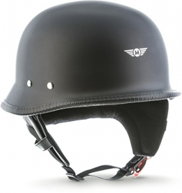 """MOTO  · D33 """"Matt Black"""" (Schwarz)  · Jet Halbschalen Helm ✪"""