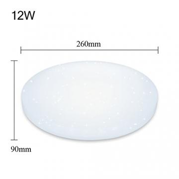 Vingo® LED-Deckenleuchte, Warmweiß (12w) mit Starlight-Effekt ✪