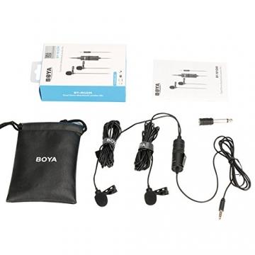 Boya BY-M1DM Dual Lavalier-Mikrofon für DSLR Kameras & Smartphones ✪