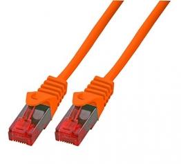BIGtec 1,5m Netzwerkkabel - Gigabit Patchkabel orange ✪
