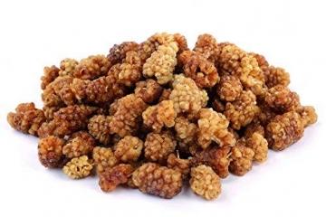 1 kg Bio weiße Maulbeeren - sonnengetrocknet, ungesüsst, Rohkost ✪