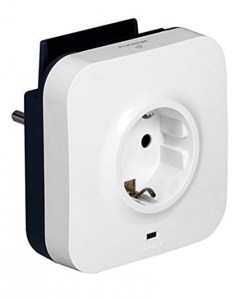 Lade-Steckdose mit 2 USB-Buchsen & Halterung ✪