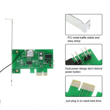 Mini PCI-e Desktop PC Remote Control Switch Card Compatible with Sonoff K2F6