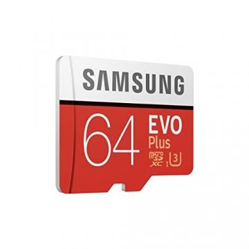 Samsung EVO Plus microSDHC 64 GB Speicherkarte bis zu 100 MB/s, UHS-I U3 (inkl. SD Adapter) ✪Samsung EVO Plus microSDHC 64 GB Speicherkarte bis zu 100 MB/s, UHS-I U3 (inkl. SD Adapter) ✪