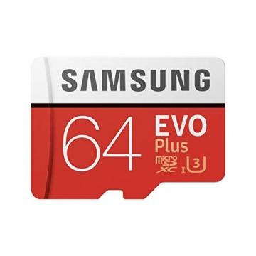 Samsung EVO Plus microSDHC 64 GB Speicherkarte bis zu 100 MB/s, UHS-I U3 (inkl. SD Adapter) ✪