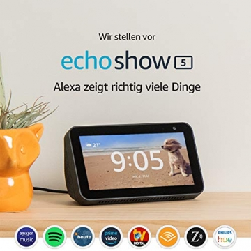 Echo Show 5 – kompaktes Smart Display mit Alexa ✪