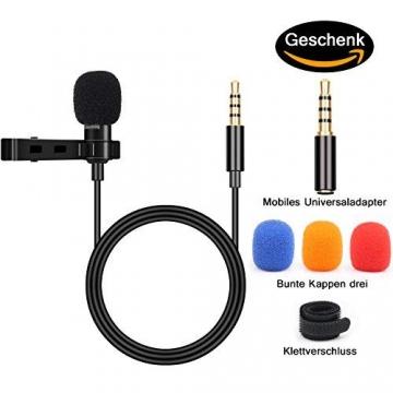 BIFY Lavalier Mikrofon für Smartphone und PC ✪