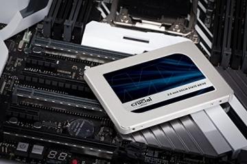 Crucial MX500 CT500MX500SSD1(Z) 500GB (3D NAND, SATA, 2,5 Zoll, Internes SSD) ✪