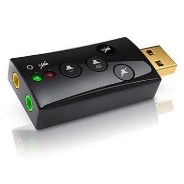 CSL - Externe USB Soundkarte | 7.1 Dynamic Stereo Sound 3D ✪