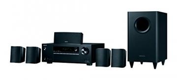Onkyo HT-S3800(B) 5.1 Heimkinosystem mit AV Receiver und Lautsprecher (Dolby Atmos, Multiroom, Bluetooth, Radio, Front USB/Audio in) ✪