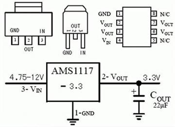 5 STK. DC Buck Modul AMS1117 3.3V Step Down Stromversorgungsmodul LDO 800ma für Arduino Raspberry Pi und Andere Mikrocontroller ✪