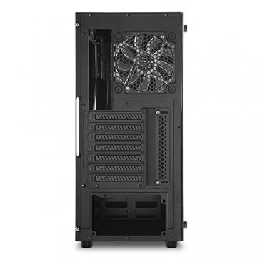 Sharkoon TG5 PC-Gehäuse (mit Seitenfenster und Frontblende aus gehärtetem Glas, 2x USB 3.0, 2x USB 2.0, 4x 120 mm LED-Lüfter) ✪