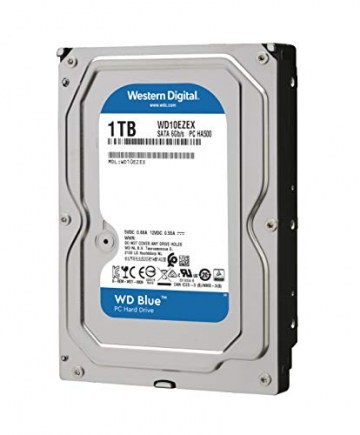 WD Blue 1TB Interne Festplatte (8,9 cm (3,5 Zoll)), SATA 6 Gb/s BULK WD10EZEX ✪