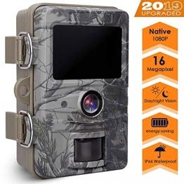 """AGM Wildkamera 16MP 1080P Full HD Jagdkamera mit 2.4"""" LCD Display ✪"""