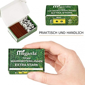 Migarda - Worx Landroid Messer - 30x - Hochwertige Titan-Klingen ✪