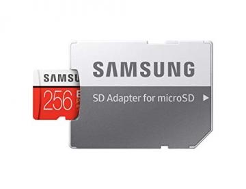 Samsung EVO Plus microSDHC 256 GB Speicherkarte bis zu 100 MB/s, UHS-I U3 (inkl. SD Adapter) ✪