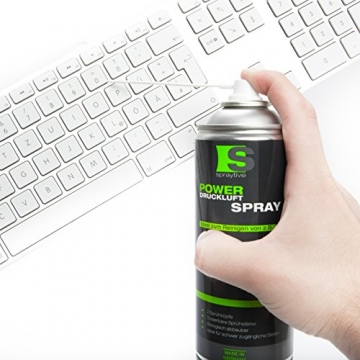 6 x 400ml Spraytive Power Druckluftspray ✪
