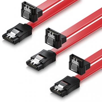 deleyCON 3X 50cm SATA III Kabel S-ATA 3 Datenkabel 6 GBit/s ✪