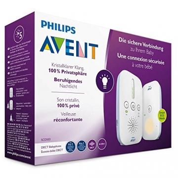 Philips Avent Audio-Babyphone SCD503/26, DECT-Technologie, Eco-Mode, 24 Std. Laufzeit, Nachtlicht ✪