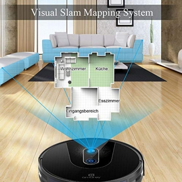 Saugroboter - Amarey  A900 Staubsauger Roboter mit App Steuerung & 1400pa Saugleistung ✪