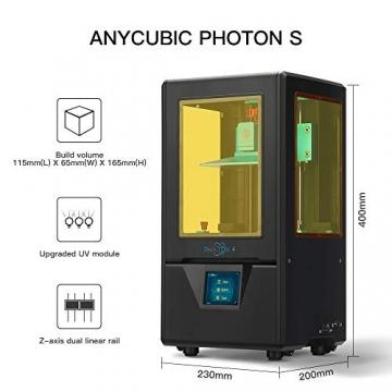 """ANYCUBIC Photon S LCD Resin 3D Drucker 115x65x165mm Druckgröße 405nm 2K Bildschirm """"Schnell-Slicen"""" offline Druck mit 500 ml Resin - 2"""