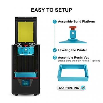 """ANYCUBIC Photon S LCD Resin 3D Drucker 115x65x165mm Druckgröße 405nm 2K Bildschirm """"Schnell-Slicen"""" offline Druck mit 500 ml Resin - 3"""