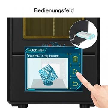 """ANYCUBIC Photon S LCD Resin 3D Drucker 115x65x165mm Druckgröße 405nm 2K Bildschirm """"Schnell-Slicen"""" offline Druck mit 500 ml Resin - 4"""