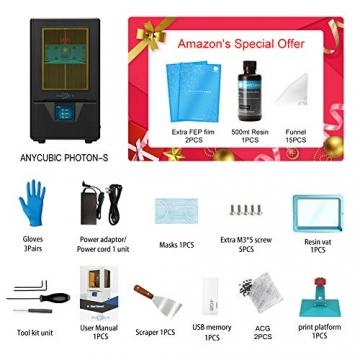 """ANYCUBIC Photon S LCD Resin 3D Drucker 115x65x165mm Druckgröße 405nm 2K Bildschirm """"Schnell-Slicen"""" offline Druck mit 500 ml Resin - 5"""